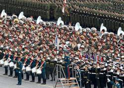 Сводный военный оркестра на Красной площади. 2015 г.