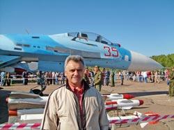 Ю.И.Назаров на празднике авиаторов в г. Пушкин