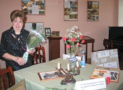 Татьяна Сергеевна Бабурина в музее города Гатчина