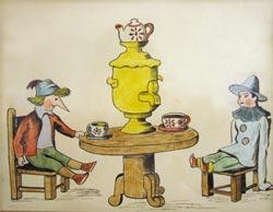 Иллюстрации Б.Б.Малаховского к книге Золотой ключик