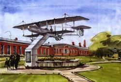 Модель самолета Фарман-16. Проект памятника