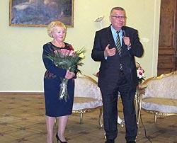 В.В. Федорова и бывший директор Гатчинского дворца-музея Н.С. Третьяков