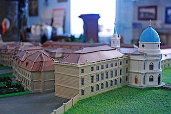 Макет крепости Ингербург в Музее истории Гатчина