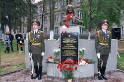 Церемония открытия памятника на месте танкового боя З.Г.Колобанова в Гатчинском районе