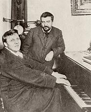 Федор Иванович Шаляпин и Александр Иванович Куприн. 1911