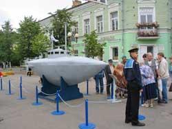 Макет подводной лодки С.К. Джевецкого, изготовленной в Гатчине
